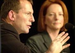 Tony Abbott & Julia Gillard